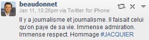 Lettre à un journaliste de guerre. Hommage à Gilles #Jacquier #journalisme