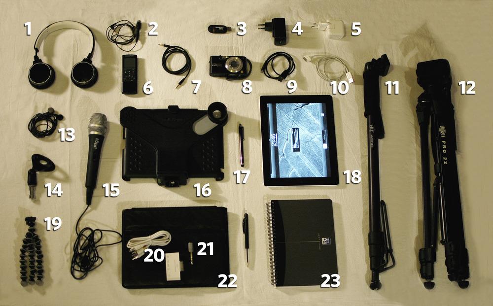 Le kit du parfait iReporter. Accessoires, applis, prix, conseils... #iPad #journalisme