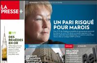 La Presse+, page d'accueil